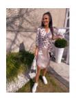 Sukienka midi wiązana w kropki beige Mona 54 - photo #1