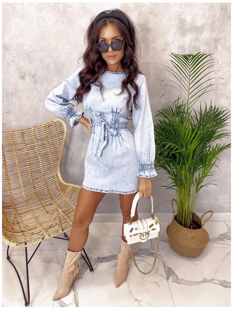 Sukienka mini jeansowa Elena 04