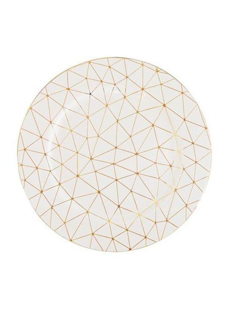 Podtalerz biały w złoty wzór geometryczny Alisma 155
