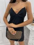 Sukienka mini na łańcuszku czarna Ingrid 01 - photo #1