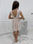 Sukienka koronkowa + tiul biało - beżowa Adele 01 - photo #3