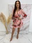 Sukienka w róże i kropeczki różowa Angelia 93 - photo #0