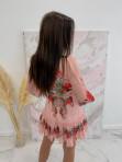 Sukienka w róże i kropeczki różowa Angelia 93 - photo #2