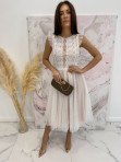 Sukienka midi koronkowa biała Elena 17 - photo #0