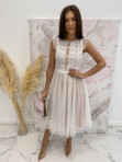 Sukienka midi koronkowa biała Elena 17 - photo #1