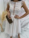 Sukienka midi koronkowa biała Elena 17 - photo #2
