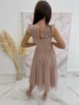 Sukienka midi koronkowa beżowa Elena 17 - photo #3