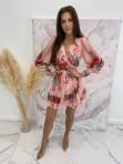 Sukienka w róże i kropeczki różowa Angelia 93 - photo #4