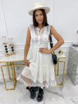 Sukienka midi ażurowa biała Collen 09 - photo #1