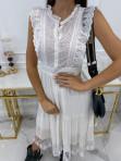 Sukienka midi ażurowa biała Collen 09 - photo #2