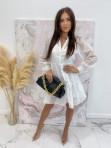 Sukienka w kratkę 3D z halką biała Sammie 17 - photo #0