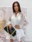 Sukienka w kratkę 3D z halką biała Sammie 17 - photo #1