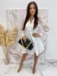 Sukienka w kratkę 3D z halką biała Sammie 17 - photo #2