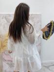 Sukienka w kratkę 3D z halką biała Sammie 17 - photo #4