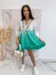 Sukienka a'la tunika z cekinami zielona Lima 139 - photo #0