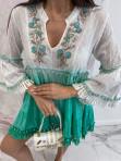 Sukienka a'la tunika z cekinami zielona Lima 139 - photo #1