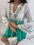 Sukienka a'la tunika z cekinami zielona Lima 139 - photo #2