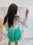 Sukienka a'la tunika z cekinami zielona Lima 139 - photo #3