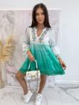 Sukienka a'la tunika z cekinami zielona Lima 139 - photo #4