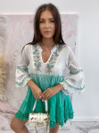 Sukienka a'la tunika z cekinami zielona Lima 139 - photo #5