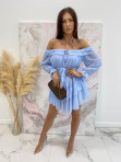 Sukienka mini z falbanami błękitna Olga 17 - photo #0