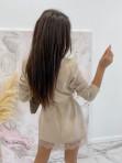 Sukienka mini a'la marynarka beżowowa Cover  54 - photo #3