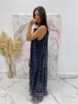 Sukienka maxi w groszki czarna Limfa 17 - photo #2