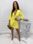 Sukienka mini a'la marynarka żółta Kleo 54 - photo #0