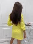 Sukienka mini a'la marynarka żółta Kleo 54 - photo #2