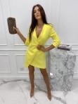 Sukienka mini a'la marynarka żółta Kleo 54 - photo #3