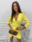 Sukienka mini a'la marynarka żółta Kleo 54 - photo #4