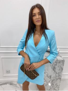 Sukienka mini a'la marynarka niebieska Kleo 54