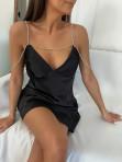 Sukienka mini na łańcuszku czarna Ingrid 01 - photo #6