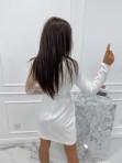 Sukienka a'la marynarka z koronkowym rękawem biała Zuzanna 54 - photo #6