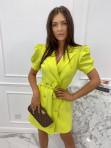 Sukienka na krótki rękaw z paskiem limonka Tamaris 54 - photo #1
