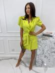 Sukienka na krótki rękaw z paskiem limonka Tamaris 54 - photo #2