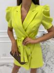 Sukienka na krótki rękaw z paskiem limonka Tamaris 54 - photo #3