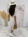 Sukienka maxi na krótki rękaw biała Anka 09 - photo #6