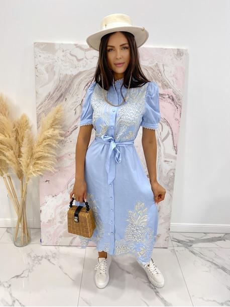Sukienka we wzory niebieska Japan 17