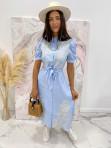 Sukienka we wzory niebieska Japan 17 - photo #3