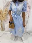 Sukienka we wzory niebieska Japan 17 - photo #4