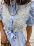 Sukienka we wzory niebieska Japan 17 - photo #5