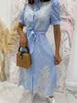 Sukienka we wzory niebieska Japan 17 - photo #6