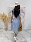 Sukienka we wzory niebieska Japan 17 - photo #7