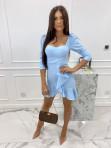 Sukienka z falbanką błękitna  Janet 54 - photo #1