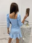 Sukienka z falbanką błękitna  Janet 54 - photo #4