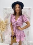 Sukienka z wiązaniem fioletowa Kalina 47 - photo #0