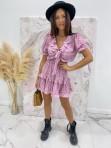 Sukienka z wiązaniem fioletowa Kalina 47 - photo #2