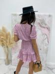 Sukienka z wiązaniem fioletowa Kalina 47 - photo #6