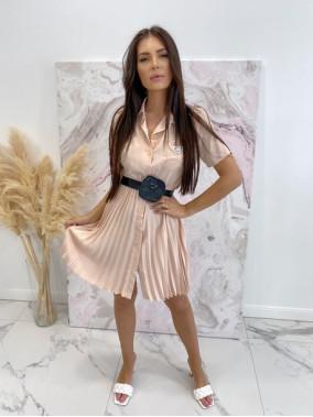 Sukienka midi z plisowanym...